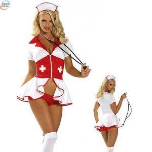 Pin-Up Sykepleier Kostyme