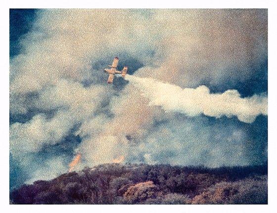 John Huggins (LA), Brushfire #2, Malibu, ed. of 17 2007, K-3 pigment print, 35 x 44 inches