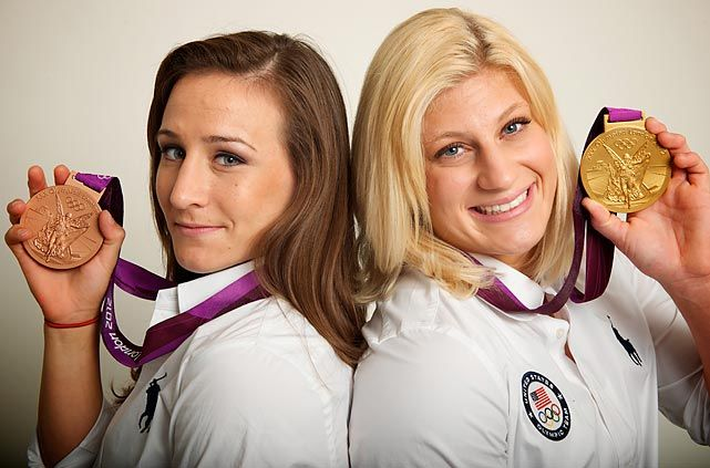 Marti Malloy and Kayla Harrison  Harrison won the 78kg gold medal in judo and Malloy won the -57kg bronze medal.
