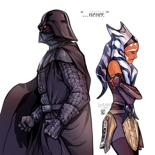 """- """"I would never let anyone hurt you, Ahsoka…"""" << """"Jedi mind trick"""" you did not just hear the sound of my heart shattering into a million pieces"""