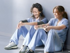 I love their dynamic.     #Cristina and Meredith #twisted step sisters #your my person