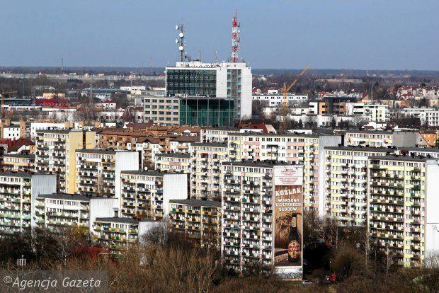 Widok na Lublin z dachu rektoratu UMCS, Czechów, osiedle Paganiniego. marzec 2014. fot. J. Orzechowski