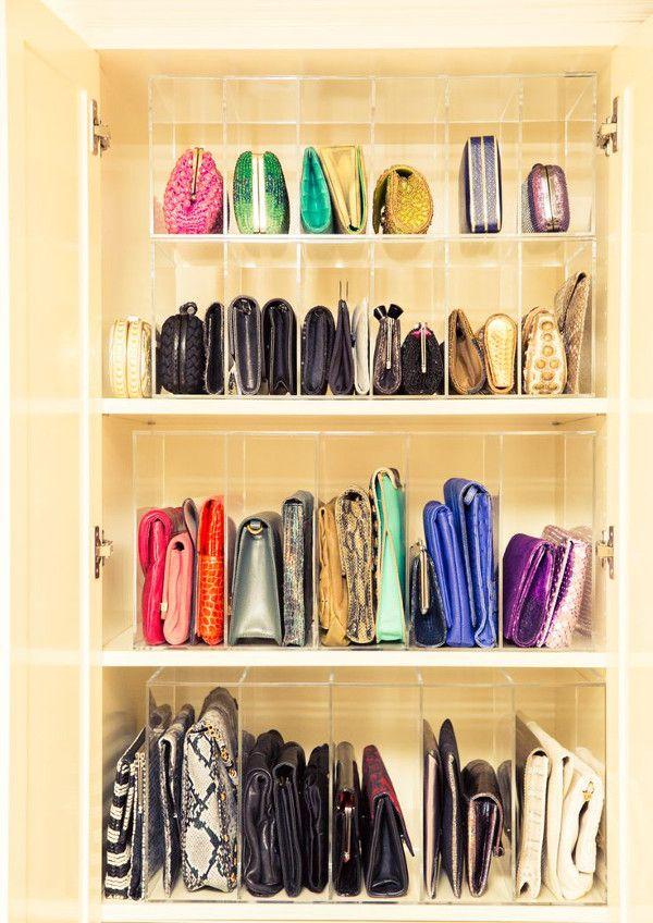 Comment ranger et organiser ses sacs à main et pochettes I Elaa Décoration