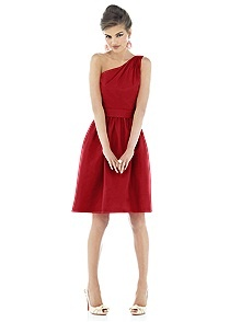 Alfred Sung Style D530    #red #bridesmaid #dress