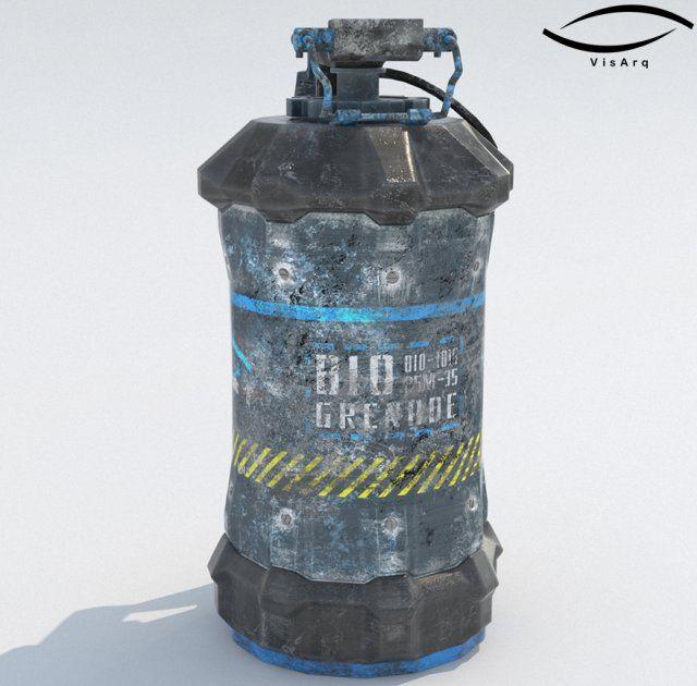 Grenade Sci-Fi BIO-101G 3D Model .max .c4d .obj .3ds .fbx .lwo .stl @3DExport.com by franxborja