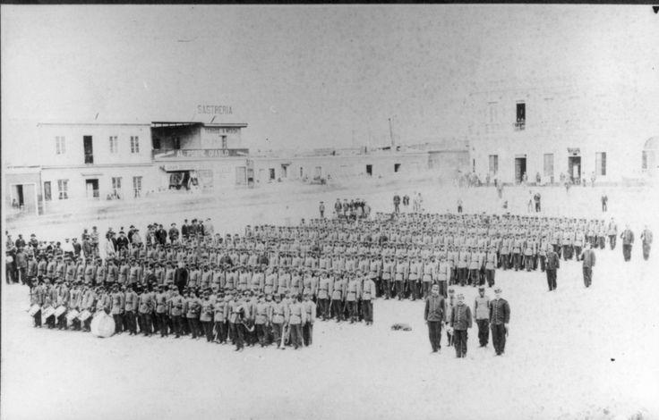 Regimiento Chacabuco 6° de Línea en formación (1880)