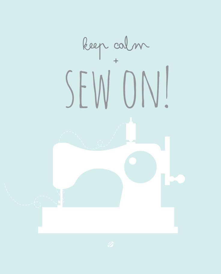 """Free Printable """"Keep Calm and Sew On"""". And find dozens more free printable wall art here - http://www.pinterest.com/hre/free-printable-wall-art/"""