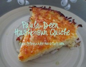Paula Deen Hashbrown Quiche Recipe, add bacon or sausage