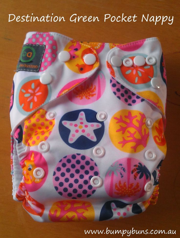 Destination Green Pocket Nappy Review - Great nappy, includes 2 boosters, separate hip & waist snaps.