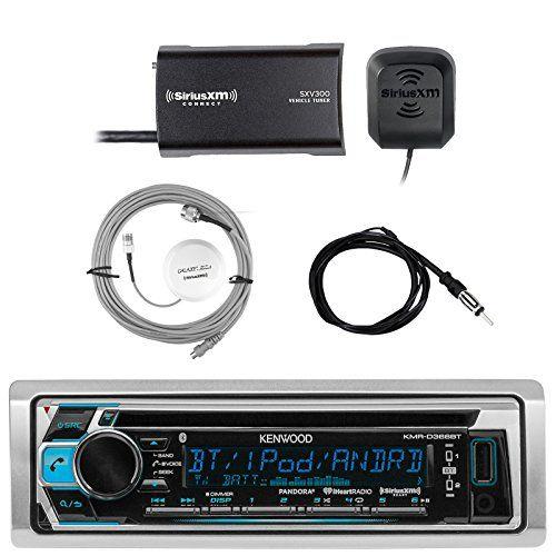 Kenwood Single DIN Bluetooth In-Dash CD AM/FM Marine Stereo Receiver, SiriusXM Satellite Radio Tuner, Shakespeare Galaxy Antenna, Enrock Marine Antenna. For product info go to:  https://www.caraccessoriesonlinemarket.com/kenwood-single-din-bluetooth-in-dash-cd-am-fm-marine-stereo-receiver-siriusxm-satellite-radio-tuner-shakespeare-galaxy-antenna-enrock-marine-antenna/