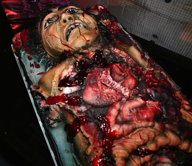 the twenty goriest and most gruesome halloween cakes and one very