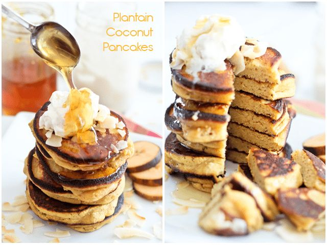 Made these. The BEST coconut pancakes!!! Paleo Coconut Plantain Pancakes | by Sonia! The Healthy Foodie