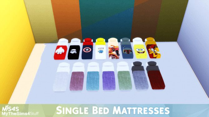 Single Bed Mattresses At Mythesims4stuff MTS4S O Sims 4