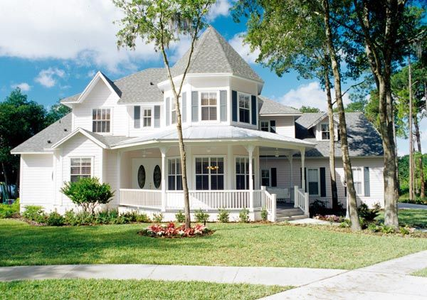 Cottage southern traditional victorian house plan 63340 for Traditional southern house plans