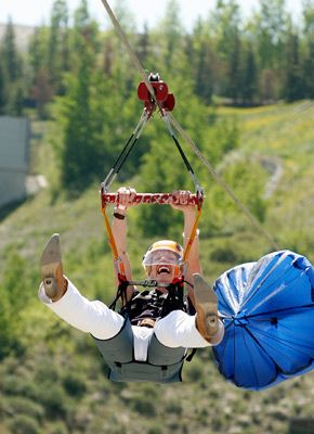 Adventure on a Zipline at Canada Olympic Park.