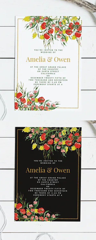Summer Wedding Invitation Card Template Wedding Invitations Wedding Invitation Card Design Summer Wedding Invitations
