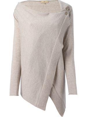 асимметричный свитер с запахом