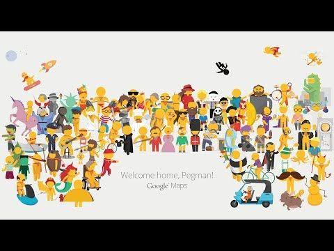 Google Maps: #PegmanLive #Flat #Illustration