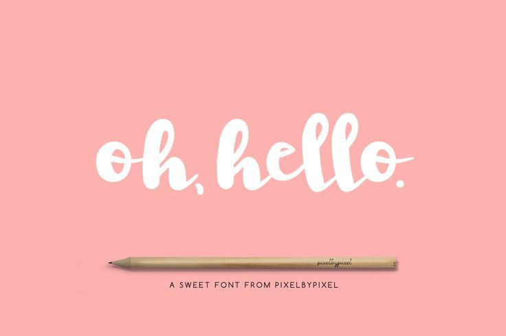 Oh Hello Modern Calligraphy Font. Digital design goods for personal or commercial projects.  Graphic design elements and resources.