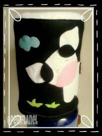 Water Gallon Cover. Felt. Handmade. Cow Applique.