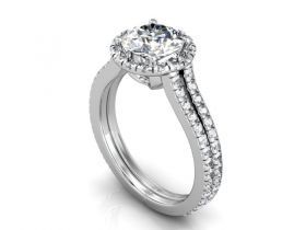 Diamore Diamonds Dallas : DD - 202154 : Custom Engagement Rings : Custom Halo Rings : Custom Diamond Rings Dallas : Diamond Rings : Halo Rings : Dallas : Texas : ROund halo Diamond Rings in Dallas Texas.