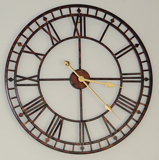 60 cm large metal wall clock antique vintage retro style home hotel bar office decor gift