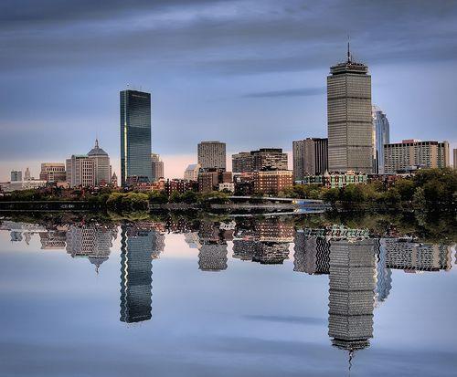Boston in the Mirror by Werner Kunz, via Flickr