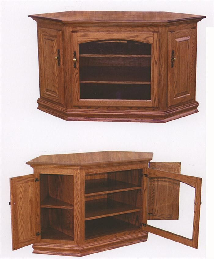 Amish Furniture Ohio Oak TV Corner Stand Or Something Like This
