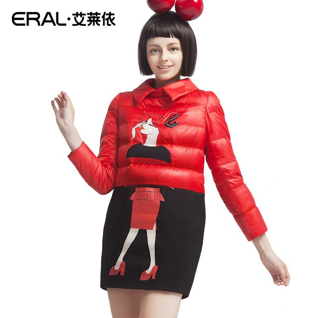 ERAL 2015 Winter Women's One-piece Dress Coat Medium-long Fashion Print Pullover Down Jacket ERAL6049D US $91.29 /piece To Buy Or See Another Product Click On This Link  http://goo.gl/IdJFhm