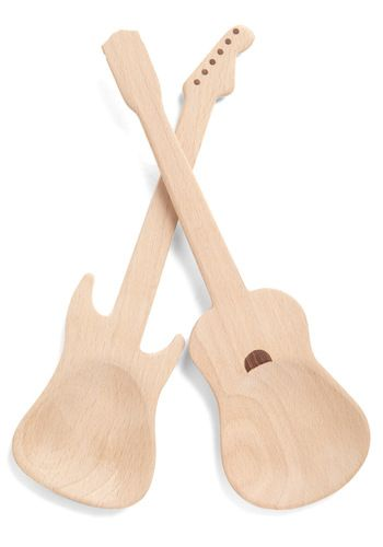 Rock and Escarole Serving Set by Kikkerland - Tan, Urban, Quirky, Music, Guys, Food