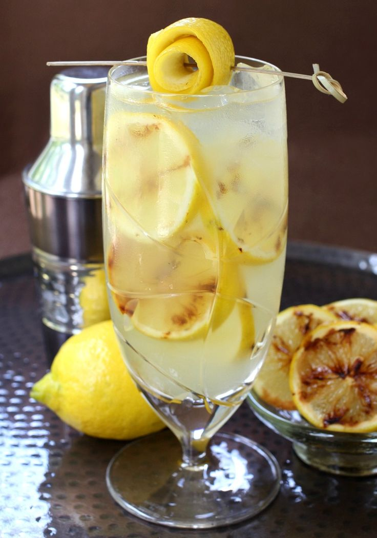 This Grilled Spiked Lemonade is a perfect summer cocktail!