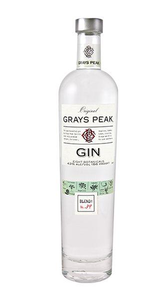Grays peak gin. 43% ABV. Classic.