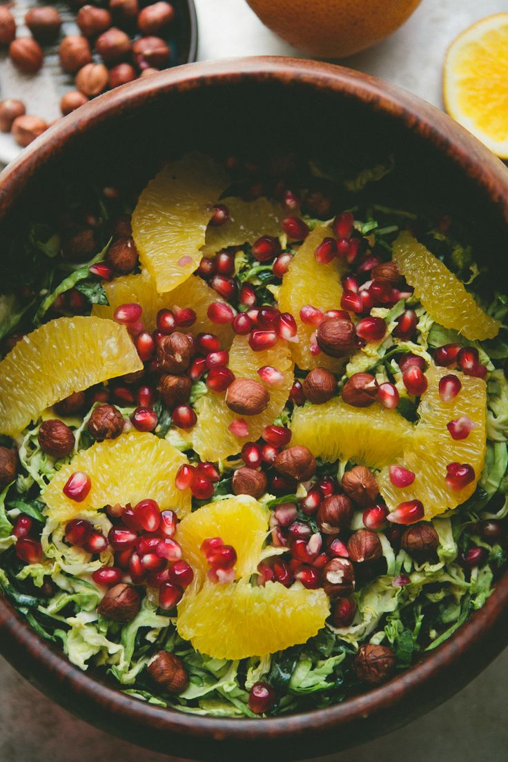 Shaved Brussels Sprout Christmas Salad + A Cookbook Giveaway - A Thought For Food