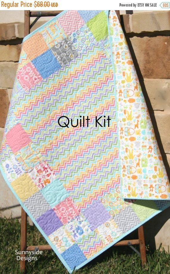 Traditional Baby Quilt Kit Bump to Baby Gina by SunnysideFabrics