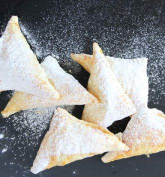Easy Peach & Apricot Cheesecake Turnovers