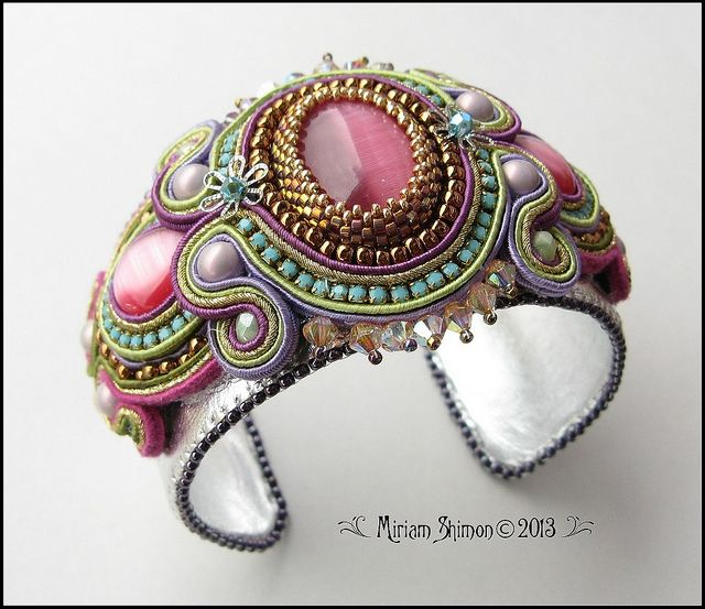 Pink and Turquoise Soutache bracelet | Flickr - Photo Sharing!