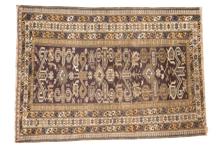 3x4 Vintage Shirvan Square Rug - Old New House