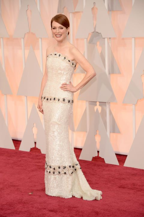 Julianne Moore in Custom Chanel Haute Couture. See all the best red carpet arrivals here: