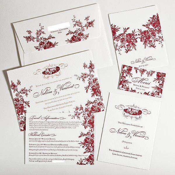 Custom Letterpress Wedding Invitations Vintage by DigbyRose