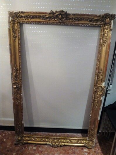 Victorian frame. Gilded wood. Middle XIX century