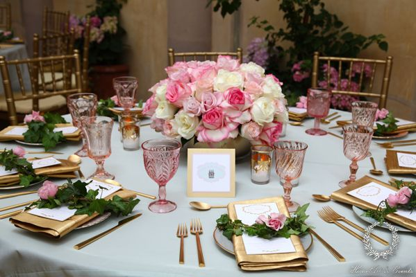 French inspired baby shower at Il Cielo, in Beverly Hills, California. Designed by HomeArt & Events. Flowers by Marks Garden, Linens by La Tavola Linen, Tableware by Casa de Perin
