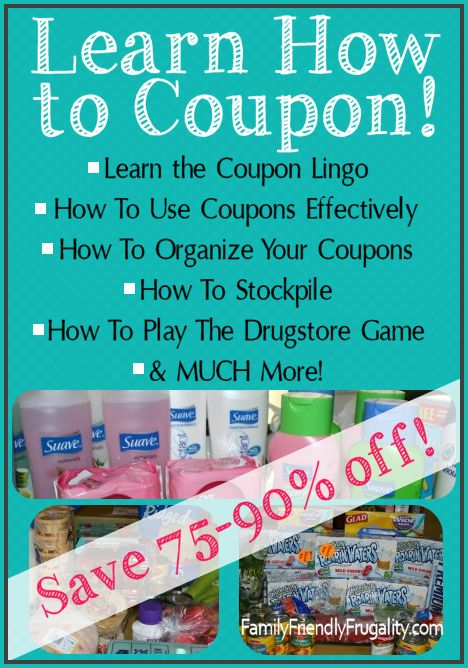 Learn how to use coupons. It's actually pretty simple and NO it's not just for junk food!