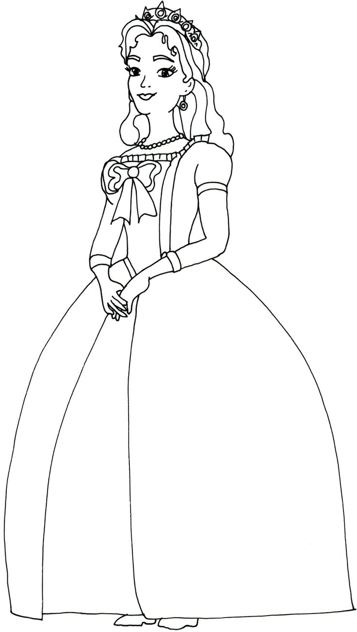Sofia The First Coloring Pages Queen Miranda Sofia the