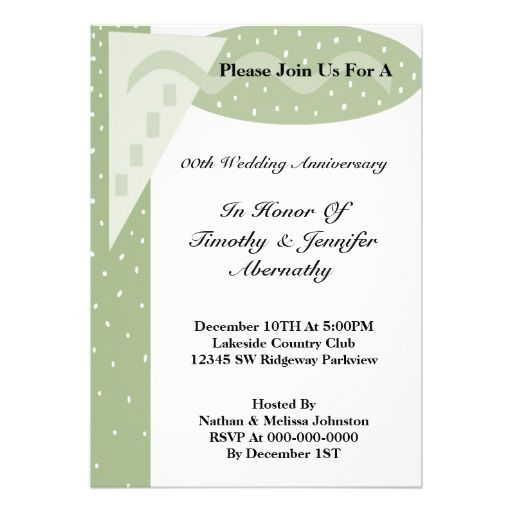 Best Cool Anniversary Party Invitations Images On