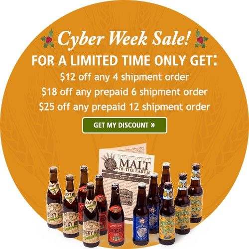 The Microbrewed Beer of the Month Club and The Rare Beer Club launch Cyber Week Sale http://l.kchoptalk.com/2gwQaUd