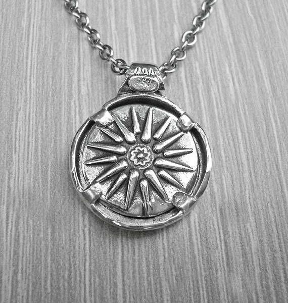 Silver coin necklacesilver coin pendantmens silver