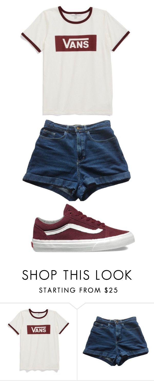 """Vans"" by sjgil2000 on Polyvore featuring Vans and American Apparel"