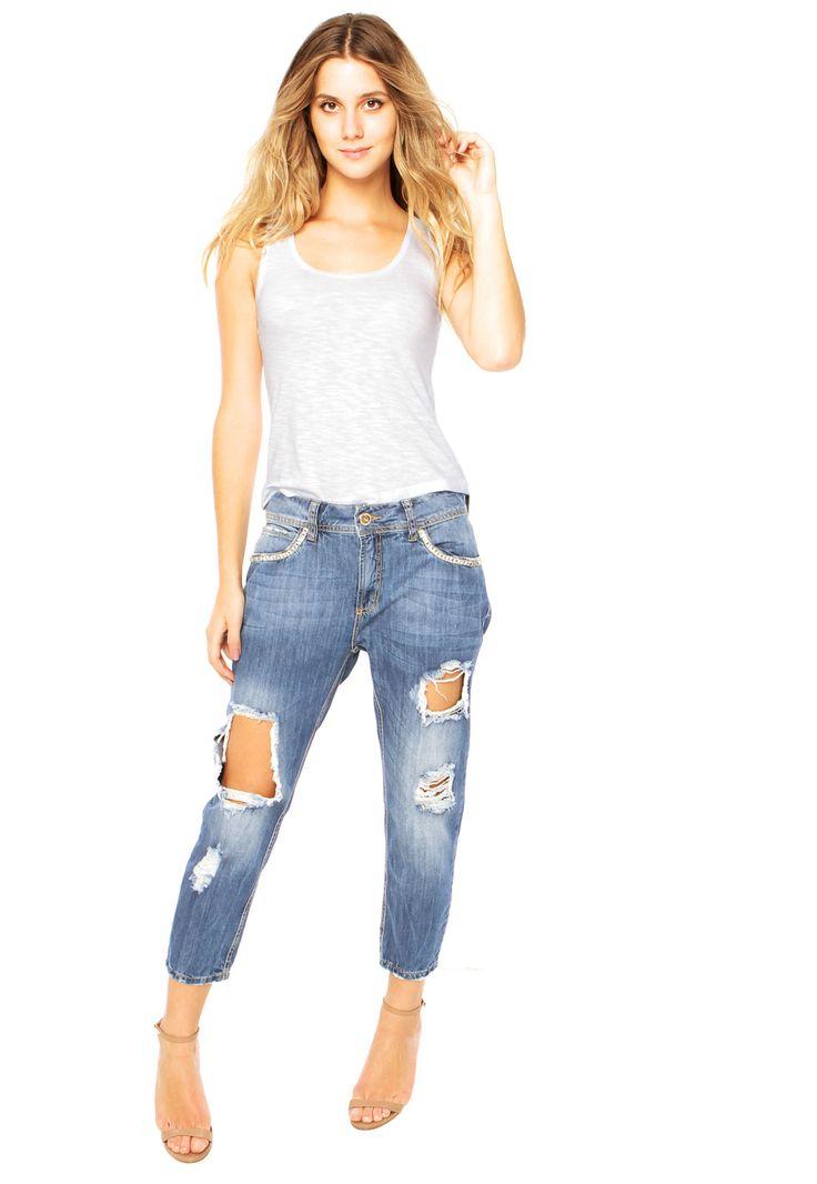 Calça Jeans Colcci Duda Azul - Marca Colcci                                                                                                                                                                                 Mais