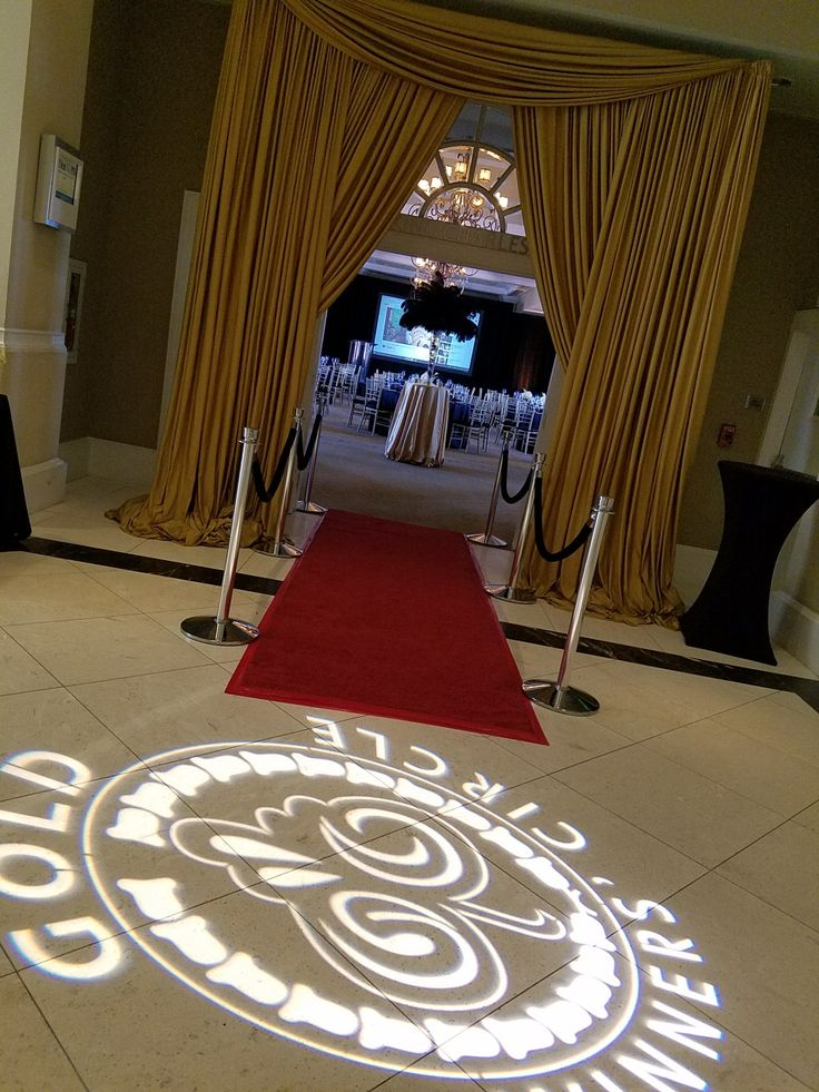 Great Gatsby Gobo red carpet stantions