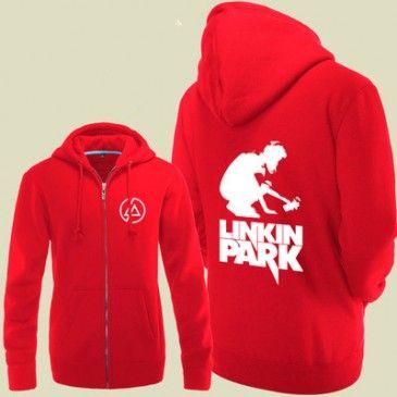 Linkin Park Image Logo  Zip Up Hoodies